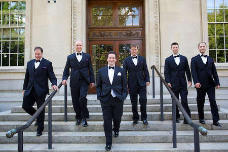 Lafayette College wedding groomsmen