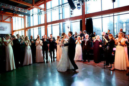 Steelstacks wedding photo at Artsquest in Lehigh Valley