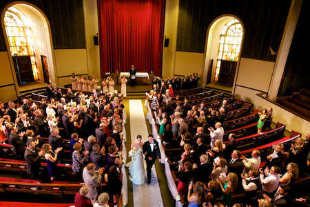 Colton Chapel wedding on Lafayette College Campus view from balcony